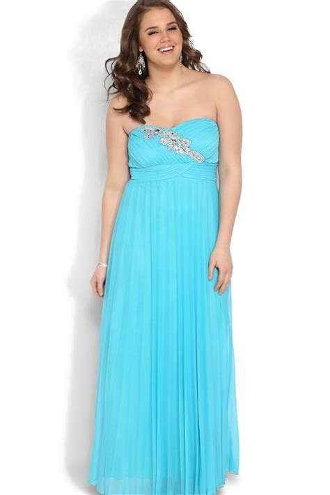 Longdress Blue Big Size Limited blue chiffon big size evening gown beading sweetheart plus size prom dress for