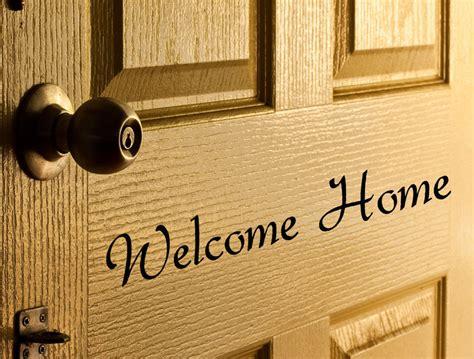 welcome home door decal vinyl letters for front door words