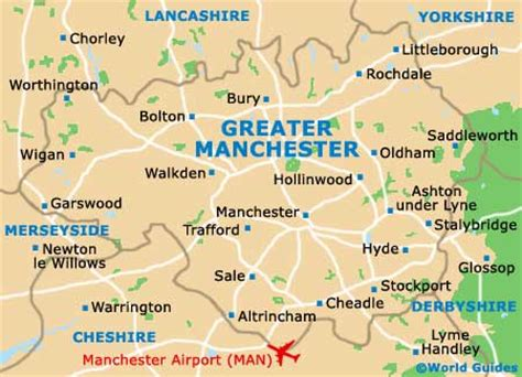 map uk manchester greater manchester county tourism and tourist information
