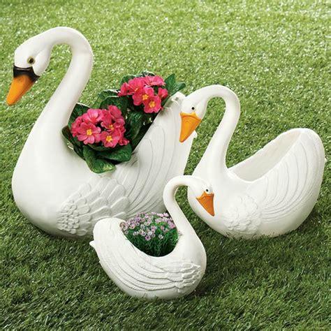 Plastic Swan Planter swan planters plastic swan planters kimball