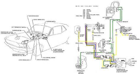 mustang color wiring  vacuum diagrams