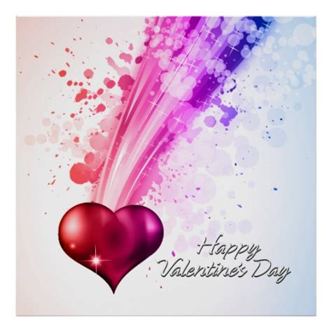 valentines day posters happy s day 6 poster zazzle
