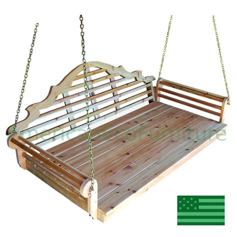 what is a swing bed amish cedar minorca swing bed made in usa american