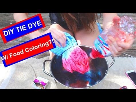 can you tie dye with food coloring diy tie dye with food coloring