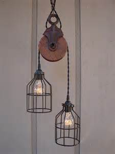 pulley light pendant industrial pulley pendant light