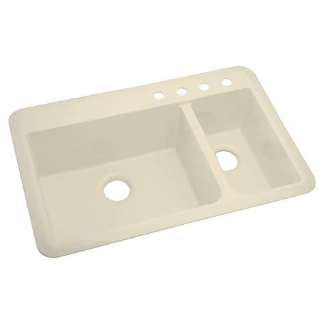 Composite Undermount Kitchen Sinks Shop Sterling Slope 2 Drop In Or Undermount Composite Kitchen Sink At Lowes