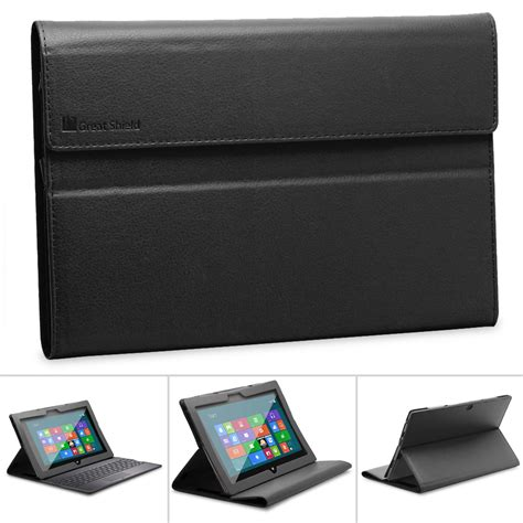 cover for windows surface leather cover stand with screen protector for