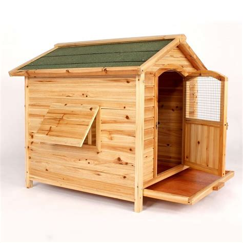 two floor dog house wooden cedar dog house large kennel hinged roof removable floor puppy pet dog houses dog and