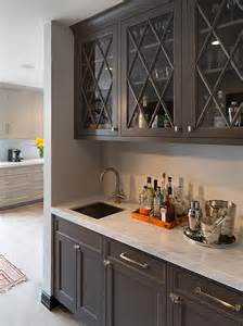 Built In Bar Cabinets Gray Butler S Pantry Contemporary Kitchen Artistic Designs For Living