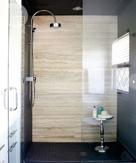Contemporary Showers Bathrooms Travertine Shower Tiles Contemporary Bathroom Style At Home