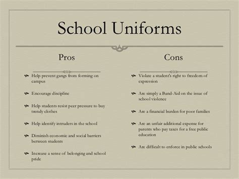 School Uniforms Debate Essay by Pros And Cons Of School A Child Dresses And Children