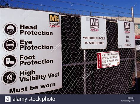 Construction Site Safety Sign   Rules and Regulations for