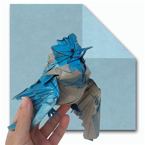 Origami With Tissue Paper - blue tissue paper 40x40 cm