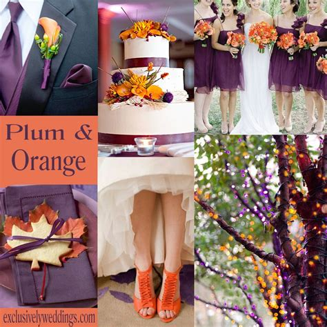 orange color combination   fall wedding