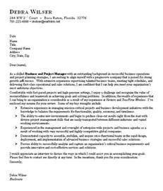 Business Cover Letters Sle Business Cover Letter