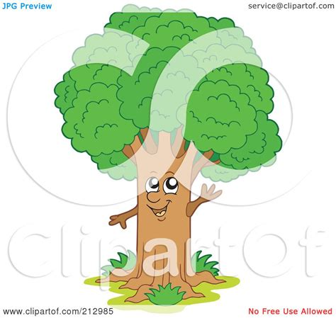 royalty free rf clipart illustration of a happy waving