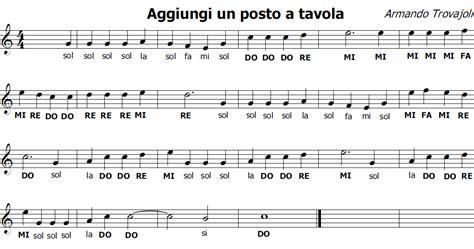 aggiungi un posto a tavola canzoni musica e spartiti gratis per flauto dolce aggiungi un