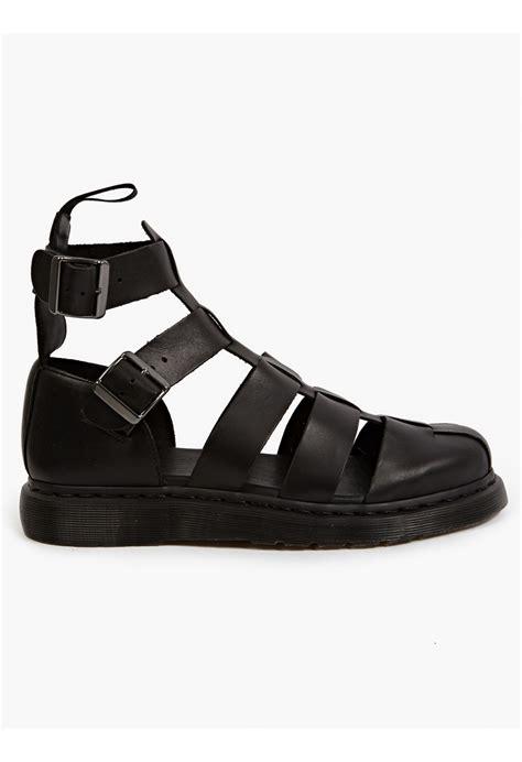dr martens mens sandals dr martens men s black geraldo ankle sandals in