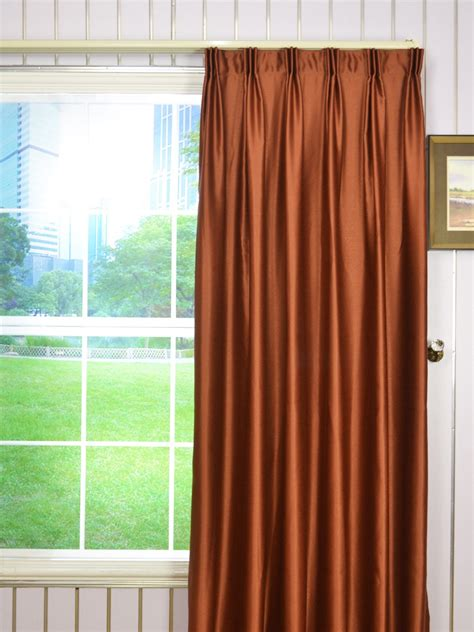curtains 120 inches wide extra wide swan brown solid versatile pleat curtains 100