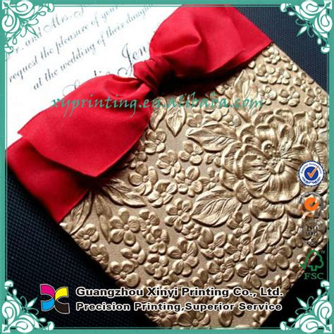 Offset Printing Wedding Invitations by Offset Printing Luxurious Muslin Arabic Wedding Invitation