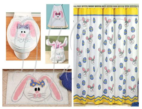 easter bathroom set easter bunny bathroom set