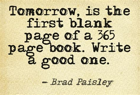 writing saying happy new year tomorrow is the blank page of a 365 page book