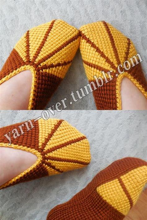 crochet socks pattern pinterest tunisian crochet slippers pattern photo tutorial by yarn