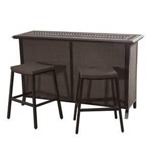Sunjoy Patio Heater by Sunjoy Tulsa 3 Piece Patio Serving Bar Set 110214002 The
