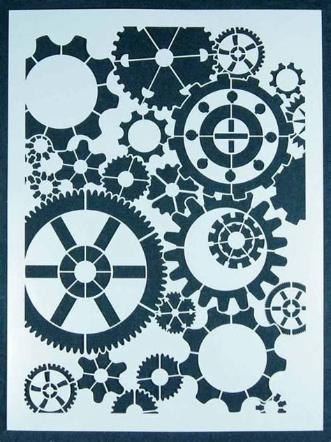 printable gear stencils steunk gear stencil wood burning pinterest