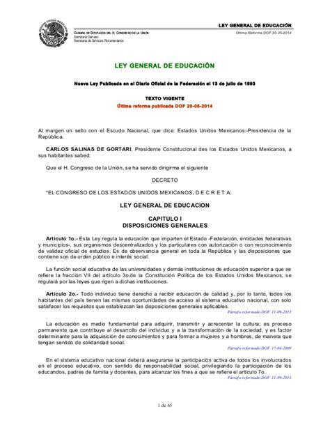 ley 1737 de 2014 secretara general del senado ley general de educaci 243 n