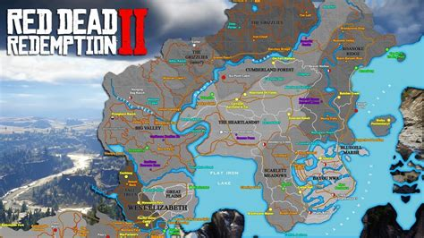 rowboat locations red dead 2 red dead redemption 2 trailer breakdown map location