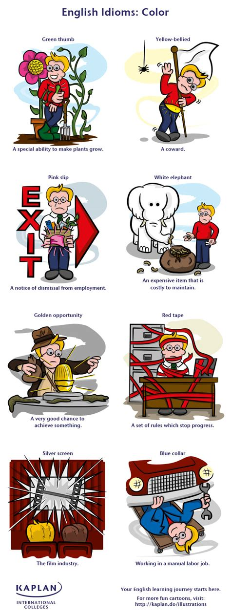 color expressions list of 90 colour idioms with meanings