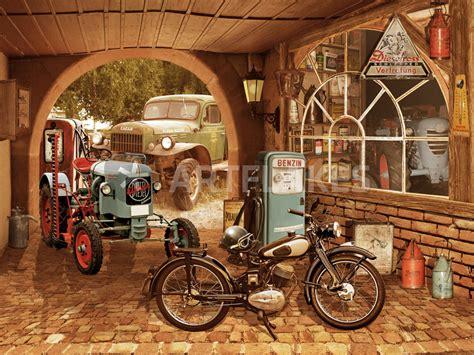 werkstatt neu quot nostalgie werkstatt mit traktor und motorrad