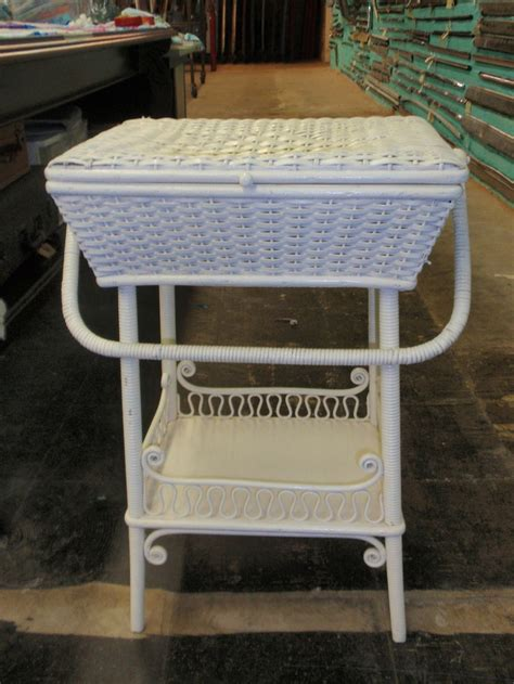 antique wicker desk and chair antique wicker rattan heywood wakefield sewing basket