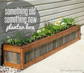 Building Planter Boxes by Something Old Something New Planter Box