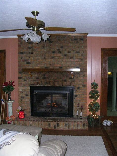 Transforming A Brick Fireplace by Transform Your Dated Brick Fireplace With One Coat Of