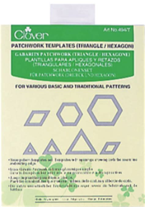 Clover Patchwork Templates - clover patchwork templates triangle hexagon