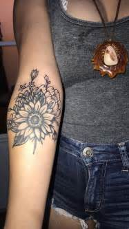 tattoo add on ideas sunflower wildflower