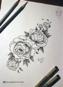 tattoo sketch peonies by valerakot on deviantart