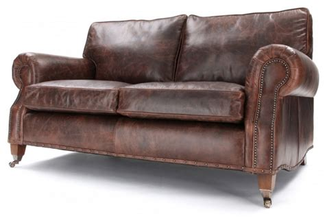 Hepburn Sofa by Hepburn Vintage Leather 3 Seater Sofa From Boot Sofas