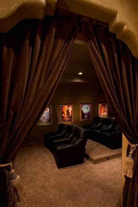Home Theater Curtain Ideas 187 Design And Ideas