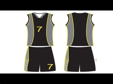 cara buat desain jersey basket cara membuat desain baju basket di coreldraw x7 coreldraw
