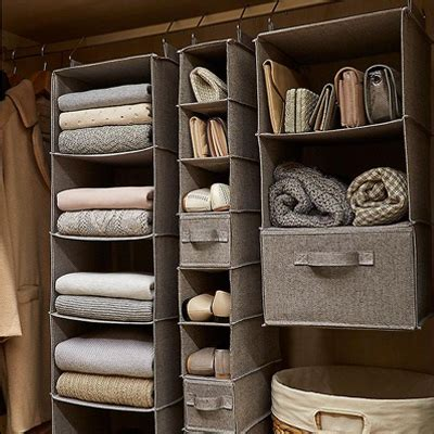 Saving Small Closet Spaces With Stainless Steel And Plastic Hanging Shoe Rack Storage The Our Top 4 Handbag Storage Ideas Closet Ideas Organization Tips The Container