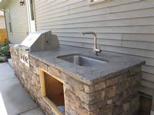 outdoor kitchen sinks ideas sunstone grills outdoor kitchen and slide in side