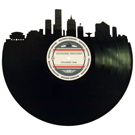 Milwaukee Records Milwaukee Skyline Records Redone Label Vinyl Record
