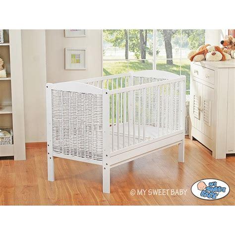 Lit Bebe Blanc by Lit B 233 B 233 233 Volutif Blanc En Osier Lit Pour Enfant Pas Cher
