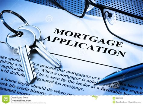 mortgage home loan application stock photography image