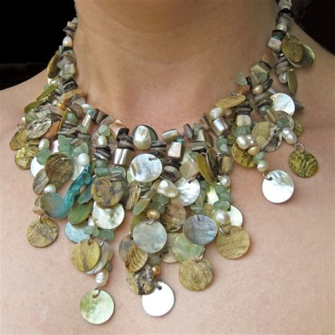 You Shell Pieces Necklace falling water shell necklace beadage