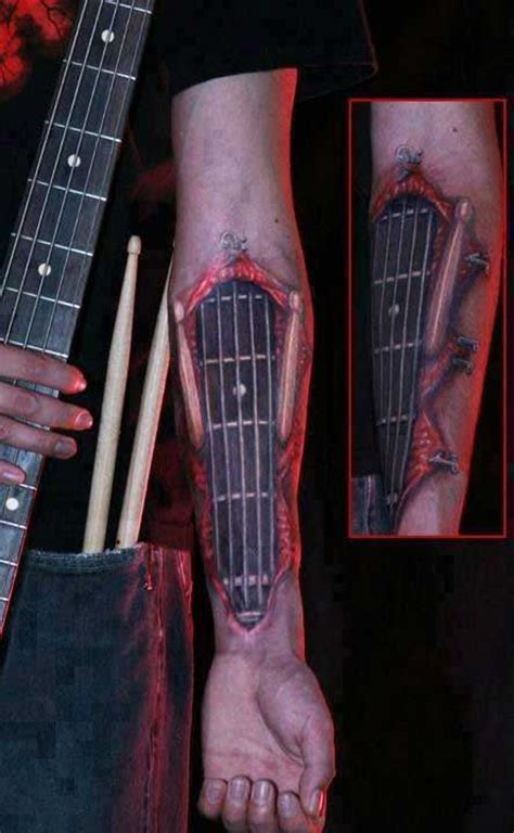 20 kick guitar tattoos