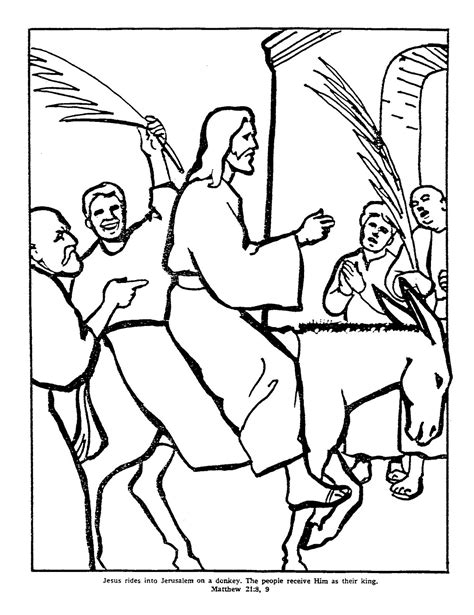 coloring page jesus rides into jerusalem the king coloring pages
